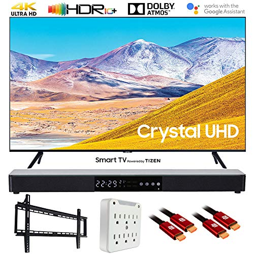Great Deal! Samsung UN43TU8000 43 4K Ultra HD Smart LED TV (2020 Model) w/Deco Gear Soundbar Bundle