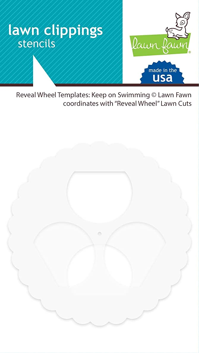 Lawn Fawn LF1994 Reveal Wheel Templates: Keep On Swimming Accessory