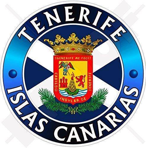 TENERIFFA INSEL, KANARISCHE INSELN Spanien, ISLAS CANARIAS Spanisch 100mm Auto & Motorrad Aufkleber, Vinyl Sticker