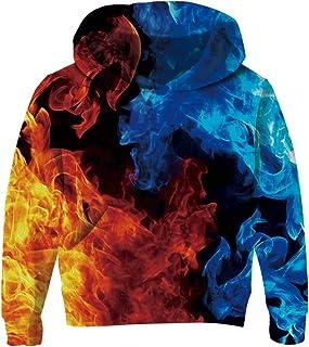 RAISEVERN Unisexe Enfant Garçons Filles 3D Imprimé Galaxy Sweat-Shirts à Capuche Longues Pull Hoodies pour 3-14Y Adolescen...