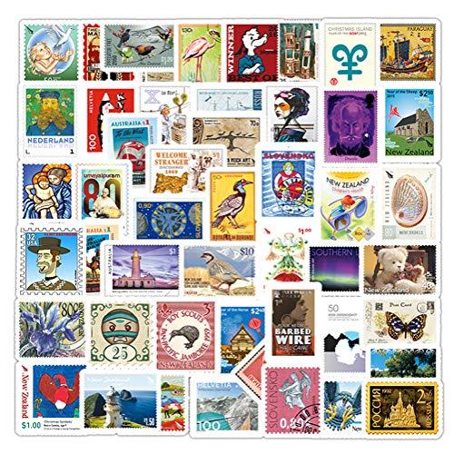 QIANGWEI 50 Stks Cartoon Sticker Reizen Landmark Bouwen Postmerk Decal Diy Koffer Gitaar Laptop Fiets