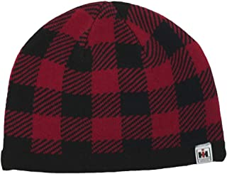IH Red Buffalo Plaid Knit Beanie - Officially Licensed
