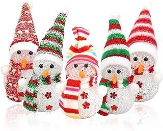 Hemore 8 paquetes de luz de la Noche de Navidad, muñeco de Nieve en Forma
