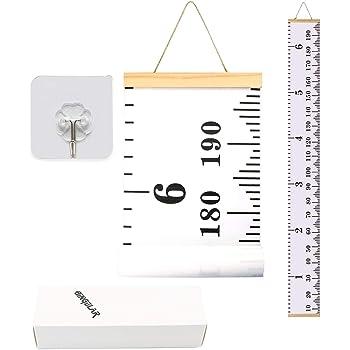 Gr/áfico De Crecimiento Para Ni/ños Tabla De Crecimiento Regla De Medici/ón De Altura De Pared Medidor De Altura Inf/ántil Con 1 Gancho Colgante 20 x 200cm