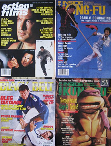 Mixed Lot Of 4 Martial Arts Magazines Steven Seagal Sly Stallone Teenage Mutant Ninja Turtles Covers