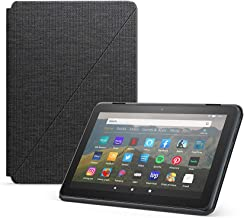 Fire HD 8 Essentials Bundle including Fire HD 8 Tablet (Black, 32GB) Ad-Supported, Amazon Standing Case (Charcoal Black), ...