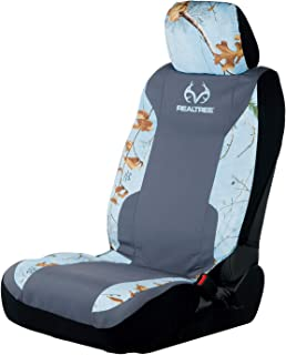 Realtree Edge Timber, Ice Blue Camo Browning Logo Low-Back and Bench Seat Covers for Cars, SUV and Trucks
