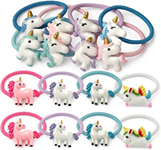 Unicorn Ponytail Holders for Girls Elastic Rubber Hair Bands Ties 16pcs