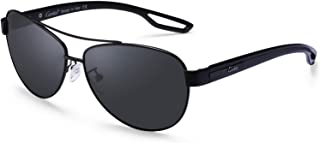 Carfia UV400 Protection Polarised Unisex Sunglasses Pilot Glasses for Driving, Leisure and Travel