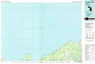 YellowMaps Au Sable Point MI topo map, 1:100000 Scale, 30 X 60 Minute, Historical, 1984, Updated 1985, 24.1 x 36.9 in