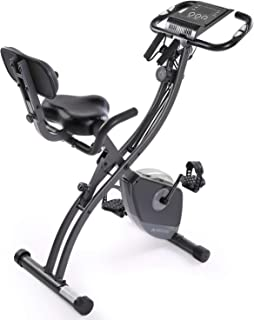 Maxkare フィットネスバイク コンフォートバイク エアロバイク 心拍数測定 サドル調節可能 ペダリング角度調節 エクササイズバンド・スマホトレー付き 折りたたみ可能 室内用 エクササイズマシン 自転車トレーニング 有酸素運動