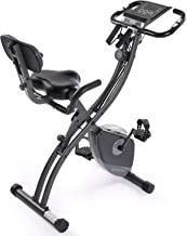 MaxKare Exercise Bike Stationary Foldable Magnetic Upright Recumbent Cycling 3 in 1 Exercise Bike with Arm Resistance Bands Perfect for Men and Women at Home