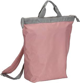 SIX Messenger Bag Rucksack wasserabweisend in Rosa und Grau (539-373)