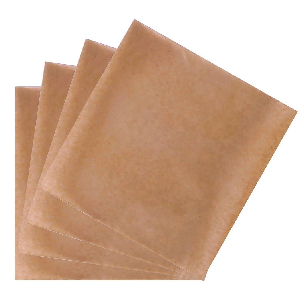 標高逆熱心ゴシレ [Gosear] 200個 18.5 x 18.5 cm 使い捨て羊皮紙紙ベーキングシートのクッキーピザパンチップ