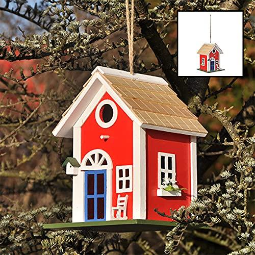 Kamaca - Schweden Landhaus Vogelhaus | Dekoratives Nistkasten zum Schrauben oder Aufhängen | Schönes Vogelhäuschen für Terrasse, Balkon und Garten