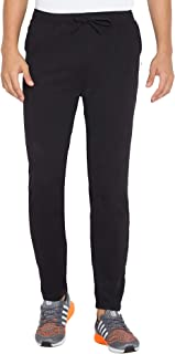 American-Elm Men Black Dri Fit Slim Fit Track Pant