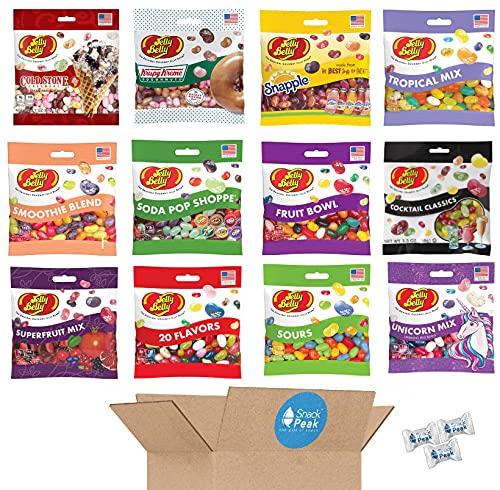 Jelly Belly Ultimate Variety Snack Peak Gift Box – 12 varieties