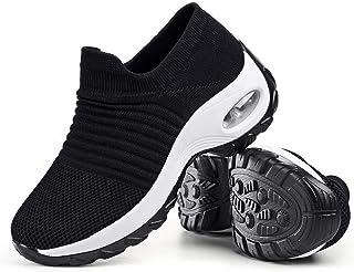 Women's Walking Shoes Sock Sneakers - Mesh Slip On Air Cushion Lady Girls Modern Jazz Dance Easy...