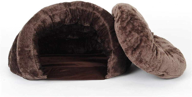 Desti Flakes Cat Litter Winter Warm Closed cat Sleeping Bag cat Supplies (color   M 60X60X42cm)