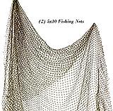 9GreenBox.com Nautical Decorative Fish Net 5' X 10' - Fish Netting - (2Pack)