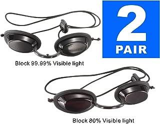 Dermapeel UV Eye Protection Tanning Goggles Eyeshields PDT LED Machine Eye Protection-Pair