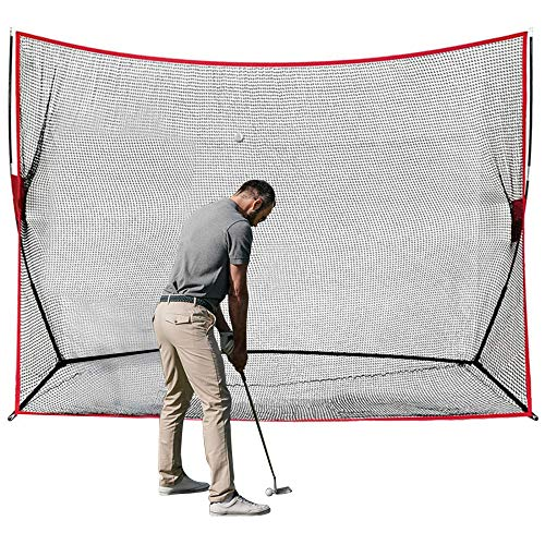TTLIFE Golf Übungsnetz 10x7 FT Tragbares Golfnetz Nylon-Material Golf Trainingsnetz MIT Tragetasche Golf Schlagnetze Zum Golfen Drinnen und Draußen Geeignet für Golfliebhaber