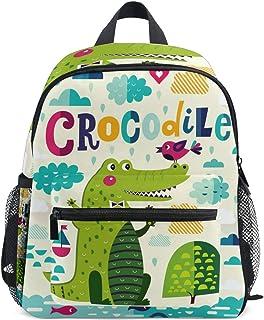Lindo cocodrilo animal mochila para niña niño preescolar bolsa de viaje mini mochila de viaje de la escuela primaria estudiantes bolsa de libro