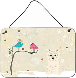 """Caroline's Treasures BB2514DS812 Christmas Presents Between Friends Westie Wall or Door Hanging Prints, 8"""" x 12"""", Multicolor"""