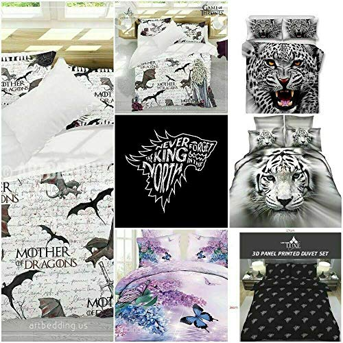 3D Duvets Sets Game of Thrones, Mother of Dragons and King in the North (King in the North, Single)