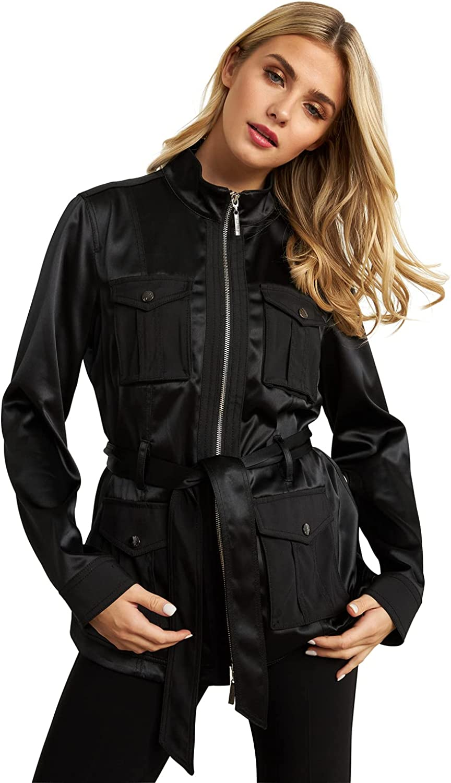 Joseph Ribkoff Safari Sateen Jacket in Black