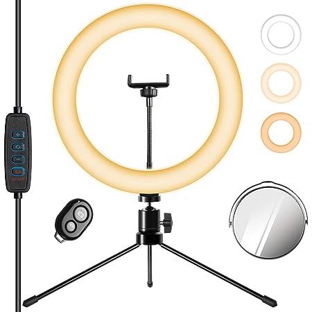 Unimi 10 Led Ringlicht Mit Ständer Handyhalter Kamera