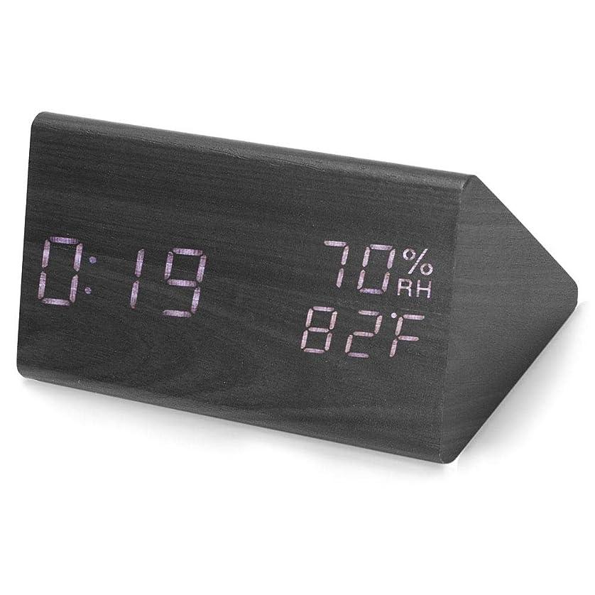 優遇恩恵地域のデジタル目覚まし時計多機能木製 LED 光時計タイマー日付温度湿度表示 USB ?バッテリ電源家庭、オフィス、子供