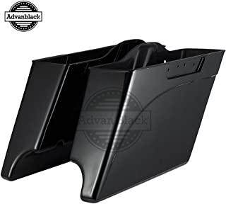 Advanblack Midnight Pearl 4 1/2 inch Stretched Saddlebags Extended Hard Saddlebags Bottoms Fit for Harley Touring Road King Street Glide Electra Glide Ultra Classic Road Glide 1994-2013
