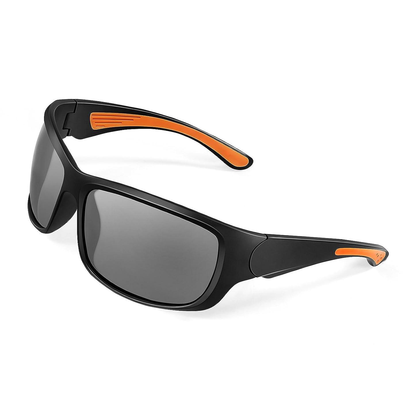 思慮深い漂流ますます偏光サングラス Alloyseed スポーツグラス 偏光レンズグラス 偏光メガネ 超軽量 TR90フレーム UV400カット キャンプ/釣り/花見/運動会/自転車/運転/など応用 保護ケース付き