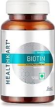 HealthKart Biotin Maximum Strength for Hair Skin & Nails-10000 mcg for, 90 tablet(s) (Biotin)