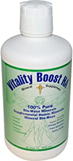 Viatlity Boost HA Humic Minerals Trace Elements Vitamins and Amino Acids Morningstar Minerals (32 Ounce)