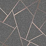 Fine Décor FD42283 - Papel pintado fractal (cuarzo, cobre)