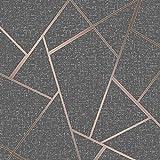 Fine Décor FD42283 - Papel pintado de cuarzo, diseño fractal, color cobre