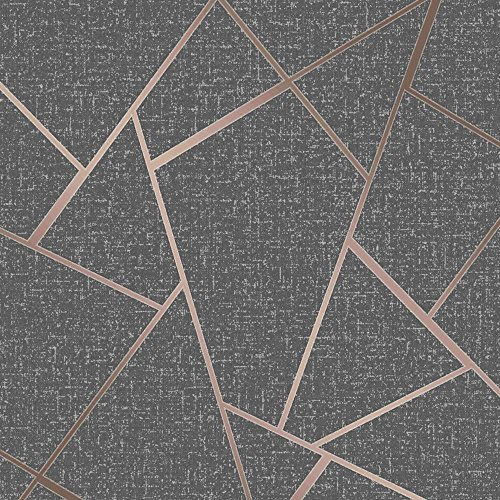 Fine Decor Wallcoverings FD42283 Quarz-Fraktal-Tapete, Kupfer