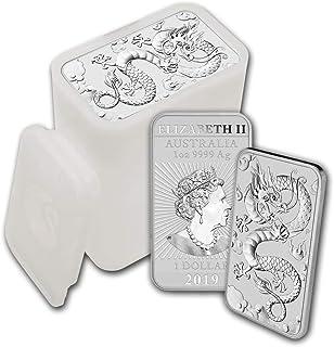 2019 - Present 1oz Silver Bar Australia Perth Mint Lot of (20) Dragon Series Coin $1 Brilliant Uncirculated