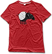 Men's Cartoon Nightmare Eater Tapir Clipart Cotton Vintage T Shirts