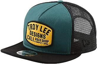 Troy Lee Designs Men's Blcokworks Snapback Hat (One Size, Pine Needle Green/Gold)