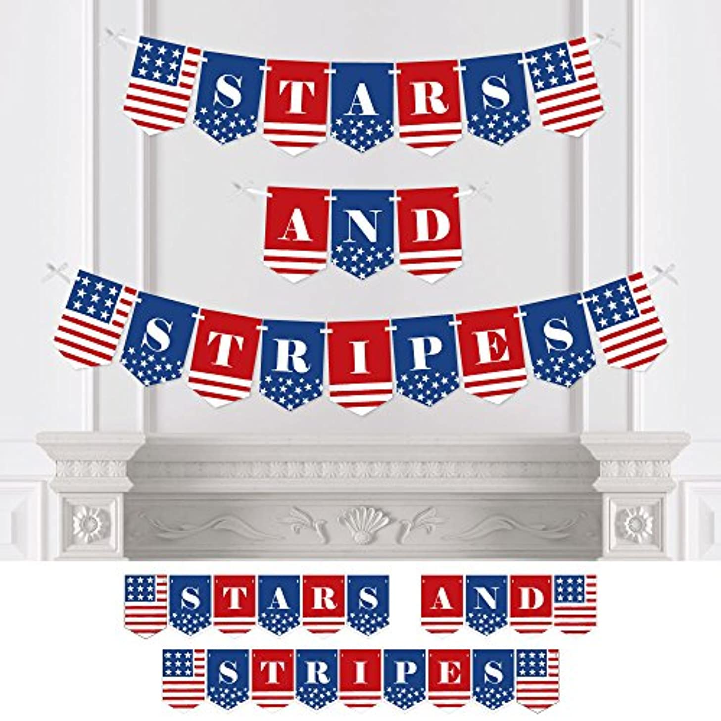 Stars & Stripes - 4th of July USA Patriotic Independence Day Party Bunting Banner - Party Decorations