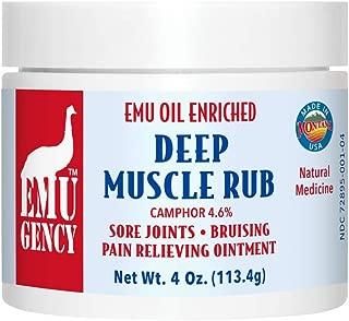 Montana Emu Ranch - EMU Body Balm with Arnica 4 Ounce Jar - Made with Pure Emu Oil