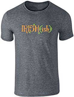 Pop Threads Irish-ish St Patrick's Day Irish Funny Graphic Tee T-Shirt for Men
