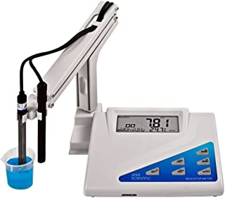 Sper Scientific LCD Display Benchtop pH-mV Meter, 0 to 14 pH Range, +/- 0.02 pH Accuracy, 0.01 Resolution