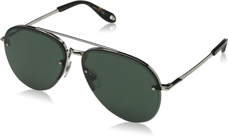 Givenchy GV7075 S 010 Palladium GV7075 S Pilot Sunglasses Lens Category 3 Size