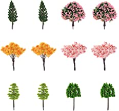 I-MART 12 Pcs Mixed Model Trees 2.4-3 Inches, Miniature Trees, Trees for Train Sets, Small Fake Trees for Dollhouse Miniatures Garden with No Stands