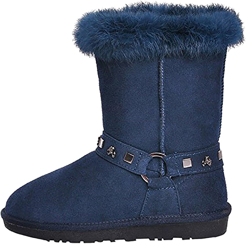Calaier Womens Carobot Round Toe 2CM Stiletto Zipper Boots shoes