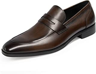 GIFENNSE Men's Leather Loafers Shoes Mens Dress Shoes,Black Shoes,Brown Shoes,